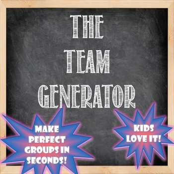 Team Generator -- An Engaging Collaboration Tool