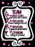 Team Girl Poster Social Skills for Preventing Relational Aggression