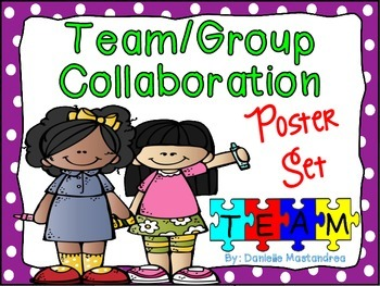 Team / Group Collaboration Poster Set {12 Colorful Posters}