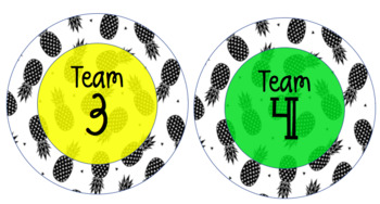 Team/Group/Table Names Pineapples