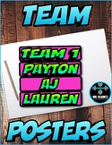 Team Grouping Posters