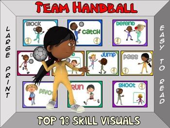 Team Handball- Top 10 Skill Visuals- Simple Large Print Design