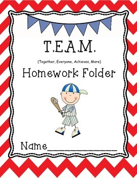 Team Homework Folder cover