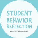 Student Behavior Reflection