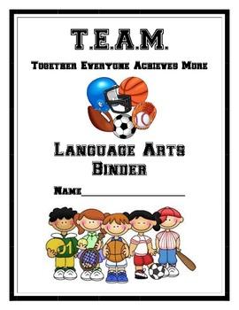 Team Language Arts Binder Cover Page
