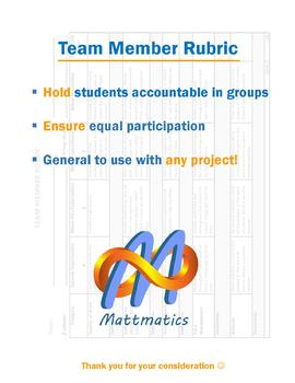 Team Member Rubric (Group Projects)