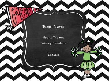 Team News - Sports Themed Weekly Newsletter - Editable