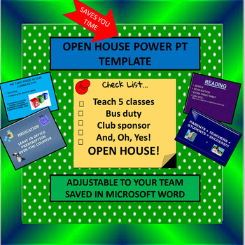 Team Open House Power Point Template