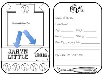 Team Player Baseball Card *EDITABLE*