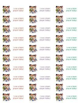 Team Player Sticker