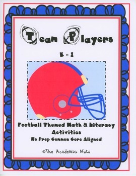 Team Players - Math and Literacy Activities