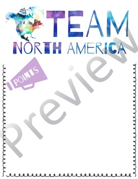 Team Points Posters - Geography Theme