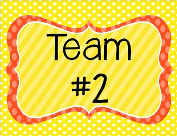 Team Posters for group work & collaborative learning