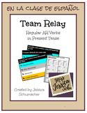 Team Relay - Spanish Regular AR Verbs in Present Tense