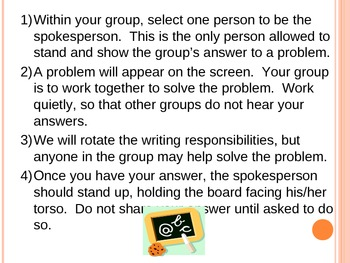 Team Review activity for Systems of Equations