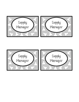 Team Roles Name Tags