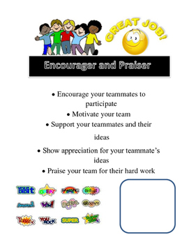 Team Roles and Numbers Poster (Pink and White Polka Dot Theme)