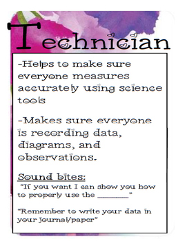 Team Roles for Science Lab