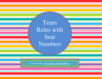 Team Roles with Seat Numbers
