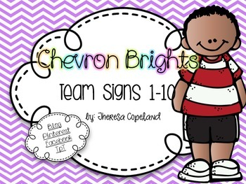 Team Signs 1-10 {Chevron Brights}