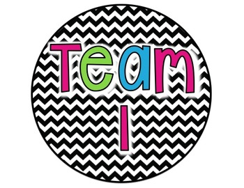 Team Signs {Colorful Chevron}