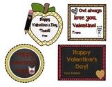 Team Spirit Garnet/Gold Valentine's Day Tags/Cards