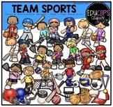 Team Sports Clip Art Bundle {Educlips Clipart}