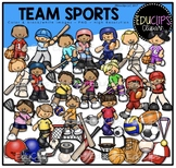 Team Sports Clip Art Bundle {Educlips Clipart}