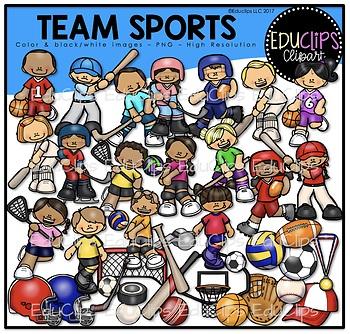 Team Sports Clip Art Bundle Educlips Clipart By Educlips Tpt