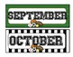 Team/Sports Theme Calendar Months