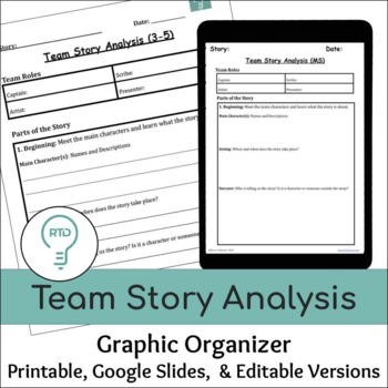 Team Story Analysis (Graphic Organizers for Upper Elementary and Middle School)