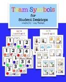 Team Symbol Cards for Student Desktops