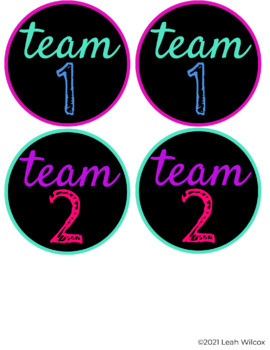 Team Table Labels