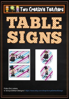 Table Labels Team Labels Magic Themed