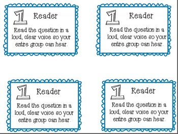 Team Talk/Literature Circle Role Cards {freebie}