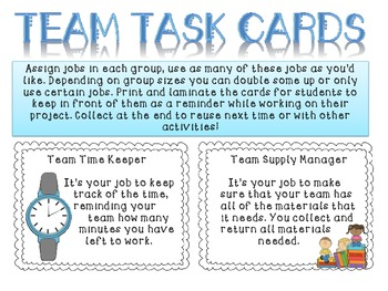 Team Task Cards