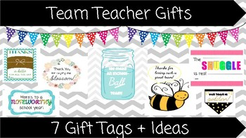 Team Teacher Gift Tags