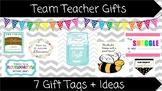 Team Teacher Gift Tags