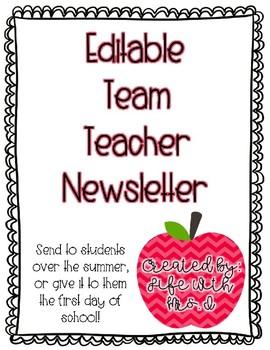 Team Teacher Newsletter