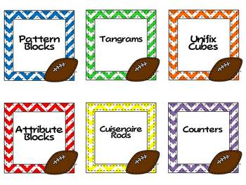 Team Theme Classroom Decor Pack {Sports, Bright Colors and Chevron}