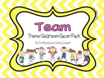 Team Theme Classroom Decor Pack {Sports, Bright Colors and
