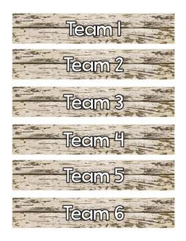 Team Bins - Team Tubs - Labels - Kagan