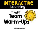 Team Warm-Ups