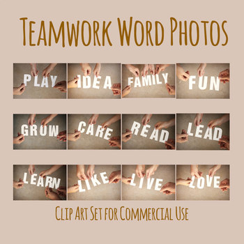 Team Words Photos Clip Art Set for Commercial Use