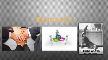 Team Work Lesson - Powerpoint and Lesson Plan