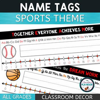 Name Tags (Sports Theme)