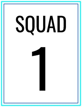 Team and Squad Posters - Physical Education