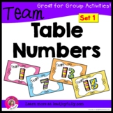 Team or Group Fold-able Table Numbers 1-15