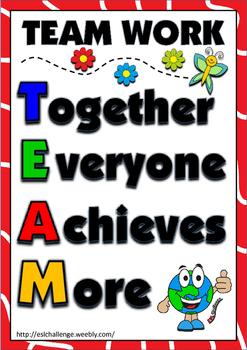 Team work poster