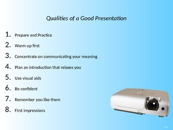 qualities of a good presentation